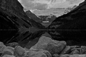 Lake Louise over the rocks